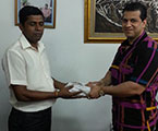 R. Duminda Silva Donates Rs 500,000 For Kidney Transplant At His Nugegoda Office.